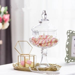 Pumpkin glass jars high quality Candy jar food with lid storage tank bottle container vase wedding party creative cans ornaments