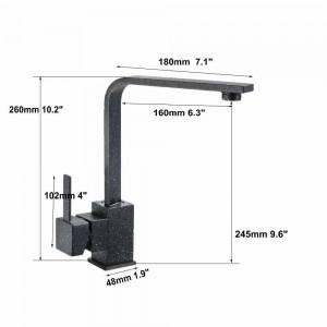Quartz Brass Kitchen Faucet Bathroom Sink Basin Faucets Mixer Tap Faucet 360 Swivel Crane Taps 5Color 8008 Faucet