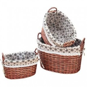Rattan storage basket dirty clothes basket debris storage bucket large rural fabric underwear socks storage box
