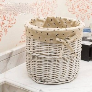 Rattan wicker basket desktop cloth storage basket straw small flower basket snack storage box sundries storage box