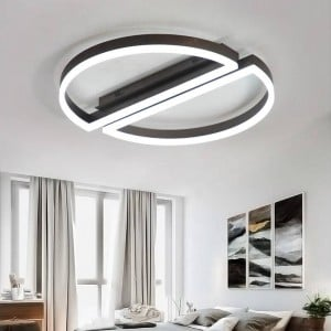 Remote control led ceiling light round white black Ultra-thin Acrylic lamp for living room bed room Luminaire Living Room Lights