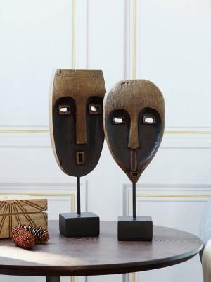 Resin Black Tree Pattern African Face Decoration Decoration Creative Crafts Modern Minimalist Desktop Art Gifts
