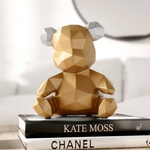 resin home decor sculpture bear Figurine decoration bear ornament in home office garden children x'mas gift resin animal statue
