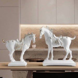 resin horse statues home decorations accessories figurines for office hotel living room creative furnishings statue horse gifts