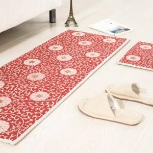 Retro flowers pattern MAT Square Cushion Kitchen Door Pad Bathroom Non-slip Remove dust Door Mats Table Carpet Bedding mats rugs