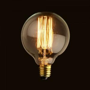 Retro G-8 40W E26 Globe Bulb Incandescent Single Light Bulb 110V Solid Brass
