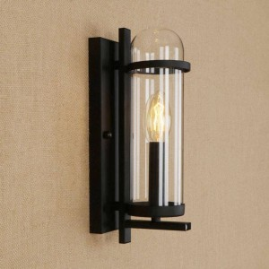 RH creative glass iron wall lamp modern rural pastoral style light fixture for restaurant cafe aisle living room deco wall lamps