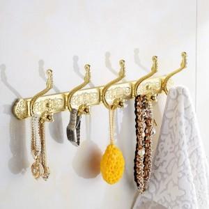 Robe Hooks Dragon Hook Antique Coat Hooks Bathroom Walls European Metal Pendant Hanging Clothes Row Bath Hardware Set HA-38W