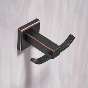 Robe Hooks Modern Style Copper Black Bathroom Hangings Black Towel Rack Clothes Hook Home Decoration Bathroom Hardware 601001