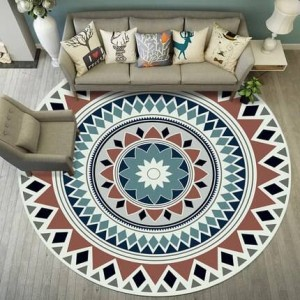 Round Carpet North European Simple Modern Living Room Coffee Table Bedroom Home Study Bedside Hanging Basket Computer Chair Mat