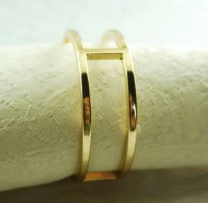 round gold metal napkin ring, napkin holder for wedding,24 pcs