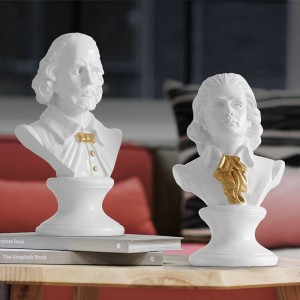 Shakespear & Mozart Head Portraits Bust Large Resin Statues for Home Decoration Resin Art & Craft Sculpture Sketch Practice