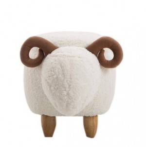 Sheep Storage Stool Animal Ottoman Footrest Stool/Padded Seat with Vivid Adorable Animal-Like Features Storage Ottoman Bench