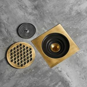 Shower Drain 15*15cm Super Bigger Floor Drain Bathroom Drain Building Material Square Water Drain Bathroom Accessories 811526F