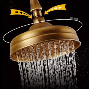 Shower Faucets Brass Wall Mounted Shower Faucet Set Waterfall 3 Ways Rain Shower Head Bathroom Mixer Taps Single Handle 9225F