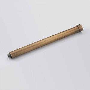 "Shower Mounting Brackets 12"" 30 CM Solid Brass Black Round Bathroom Shower Faucet Pipe Extension Tube Bar Shower Holder Arm"