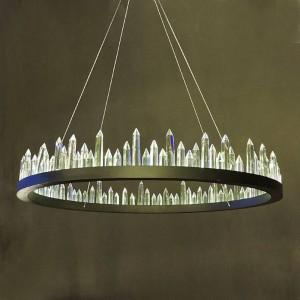 Simple crystal LED Pendant Lights modern circle Dia.40cm 60cm 80cm For Bedroom lamparas Home Decoration Lamp hanglamp luminaire