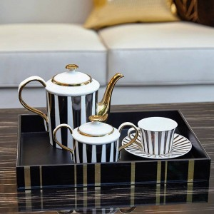 Simple European coffee cup set model room set home luxury gift