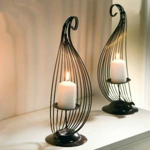Simple fashion creative Home Furnishing Iron Candle Candle holder bar personalized desktop decoration wedding decoration