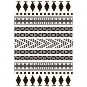 Simple modern black and white Nordic geometric carpet living room coffee table bedroom full shop large window tatami mat custom