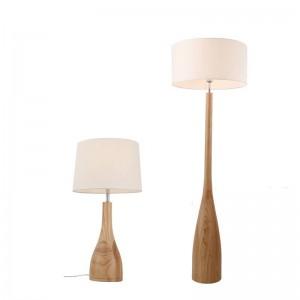 Simple Nordic floor lamp Wood leg Fabric lampshade Japanese E27 warm Floor Light Living Room Bedroom Restaurant Wood table light