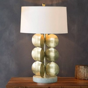 Simple Table Lamp modern gold body white fabirc shade desk lamp Decoration Lampe creative E27 3W led bulb Nordic Light