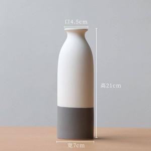 Simple vase ceramic hydroponic vase Nordic home decoration