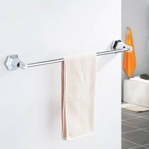 Single towel bars Black Color Wall Mounted Towel Holder in Towel Racks Towel Hanger Bathroom Accessories Bath hardware 93010