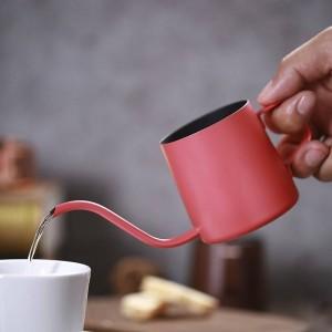 Small Stainless Steel Coffee Moka Pot Maker Long Drip Type Kettle Foaming Milk Jug Mini TeaPot Espresso Cafetiere 250ml 350ml