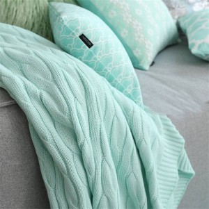 Soild Color Bed Sofa Travel Mantas Throw Wool Knitting Blanket Home Cotton Summer Spring Hemp Flowers Air-condition Blanket