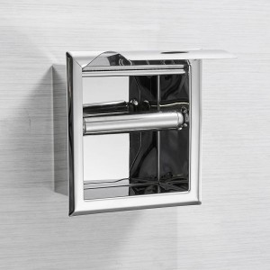 Stainless Steel304 Toilet Paper Holder Chrome Wall Mounted Concealed Bathroom Roll Paper Box Porta Papel Higienico LAD-18030