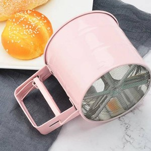 Stainless Steel Flour Sifter Handheld Powder Flour Sieve Icing Sugar Manual Sieve Cup Home Kitchen Baking Pastry Tools