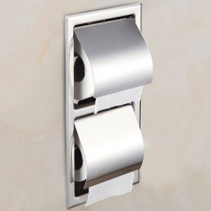 Stainless Steel Toilet Paper Holder Chrome Wall Mounted Concealed Bathroom Roll Paper Box Waterproof Multiple Types LAD-18030