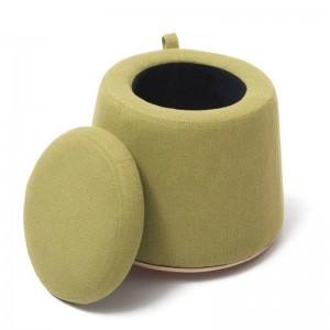 Stool Flax Cloth+Wood Footstool Chair With Storage Box Inside Sofa Furniture Ottomans Home Decor Bench Creative Thin Waist Stool