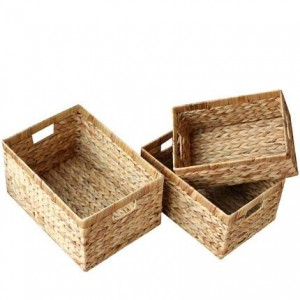 Storage basket rattan storage basket storage box straw storage basket without cover box