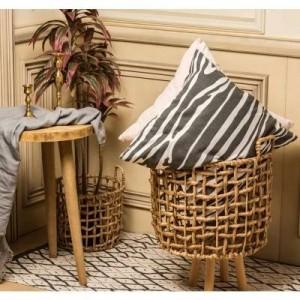 Storage basket straw rattan handmade seaweed Nordic style flower basket vase modern home deco