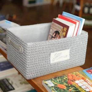 Storage box storage box finishing box snacks plastic rattan collection basket collection basket basket plastic