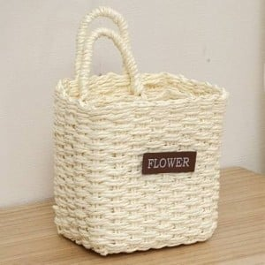 Straw storage basket desktop key basket college mobile phone basket bathroom Japanese ZAKKA hanging basket new products