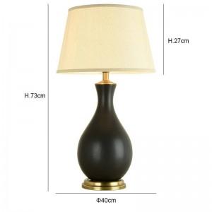 The modern table lamp Kung home decoration copper ceramic art secene E27 Table lamp sitting room bedroom lighting desk light