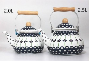Thickened Flat Bottom 2.0l/2.5l Enamel Kettle Milk Teapot Induction Cooker Universal Enamel Chaleira Com Infusor