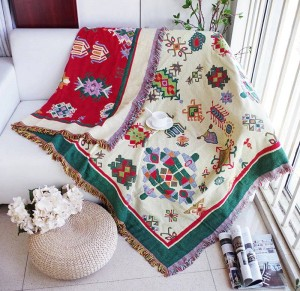Thickening Geometry Throw Blanket Christmas Decorative Cobertor Manta Para Sofa/Beds Travel Plaid Non-slip Stitching Blankets
