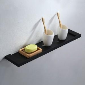 Tierney Modern Stainless Steel Matte Black Bathroom Shelf Wall Mounted