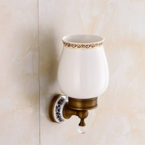 Toilet Brush Holders Wall Mounted Bathroom Products Brass & Crystal Bathroom Decoration Accessory Bathroom Accessories 9219K