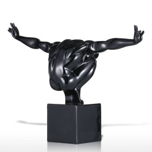 Black Diver statue Fiberglass Sculpture Home Decoration accessories modern decor home