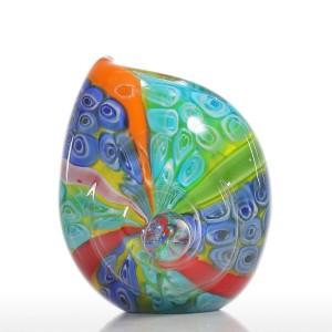 Colorful Sea Shell Figurines Modern Glass Ornament Animal Figurine Home Decor Multicolor Home Decoration Acccessories