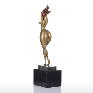 Feng Shui Figurine Sexy Plump Lady Handmade Bronze Figurine Modern Art Home Decor Craft Gift For Home Office