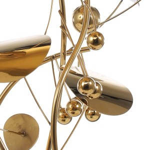 Fruit Sculpture Modern Style Home Decor Figurine Stainless Steel Statue Abstract for Office Home Decoration Accessories