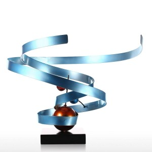 Nebula Abstract Wrought Iron Sculpture House Decoration Abstract Desktop Decoration Contemporary Desktop Sculpture