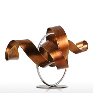 Statue Wriggle Modern Sculpture Abstract Sculpture Metal Abstract Sculpture Iron Home Decoration Room Desk Ornament