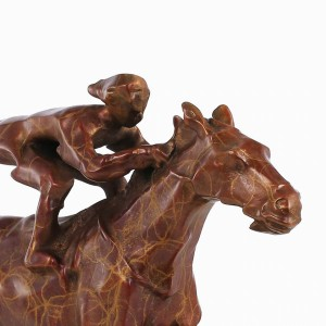 Bronze Statue Horse Racing Modern Style Sculpture Home Decor Animal for Office and Home Decoration Accessories